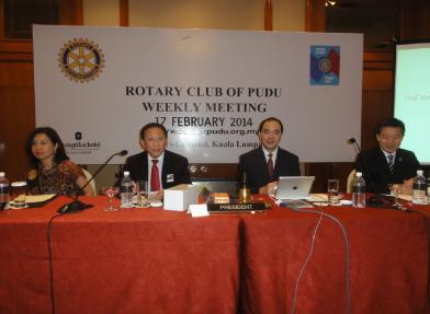 Joint Meeting with RC Ampang on February 17 2014 at Shangri-la Hotel