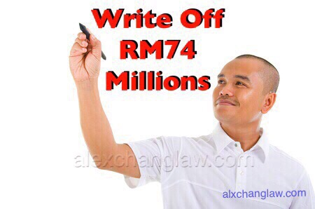 Write Off RM74 Million Court Awarded Damages Reduced to Nothing