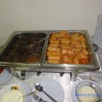 Food prepared by the Romania Embassy