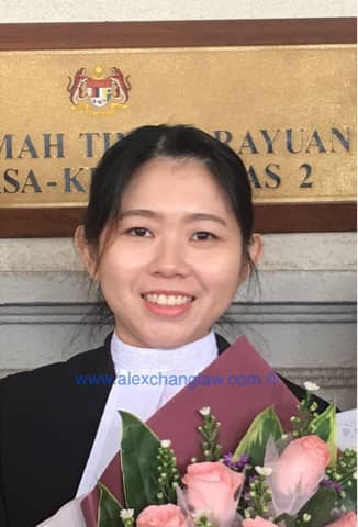 Admission to the Bar of Lee Ai Yin Kuala Lumpur Malaysia Long Call